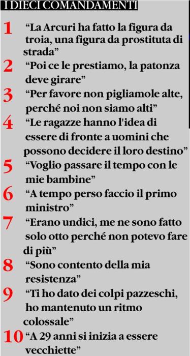 Preferenza I 10 comandamenti di Silvio. | Triskel182 CI35