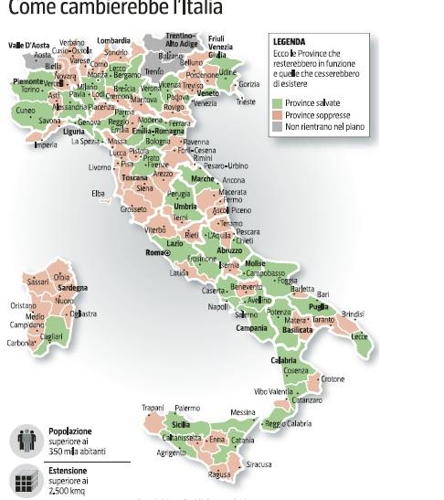 Cartina Dell Italia Con Province.Province Salve 43 Su 107 Ecco L Elenco Triskel182