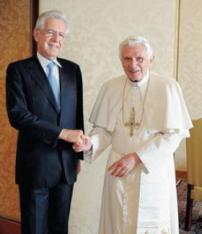 Monti e il Papa