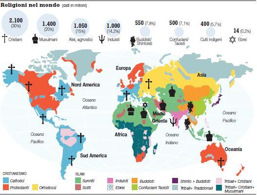 Religioni Nel Mondo Cartina.Il Mondo Religioso Oggi Su Religione A Scuola