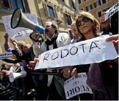 Manifestanti PD.