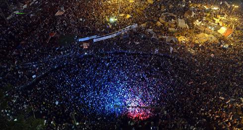Piazza Tahrir. Il Cairo