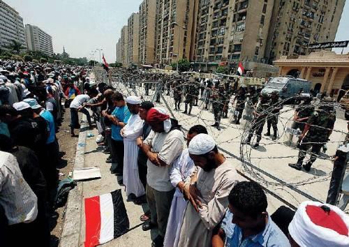Seguaci del presidente Morsi