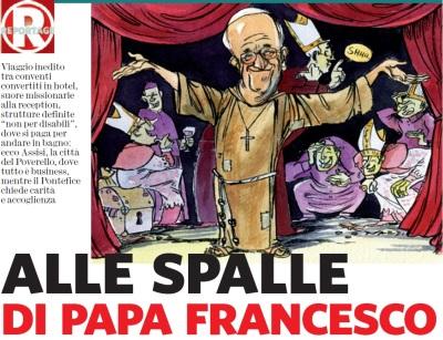 Alle spalle del Papa
