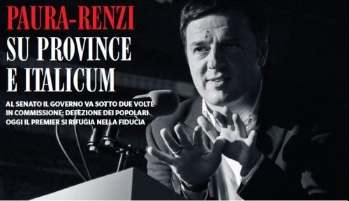 Paura Renzi