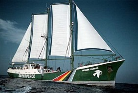 RAINBOW WARRIOR sailing from India to Thailand. Bay of Bengal.