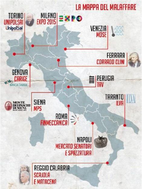 La mappa del malaffare