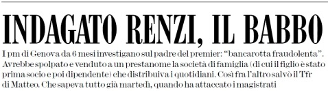 Indagato Tiziano Renzi