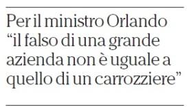 Il ministro Orlando