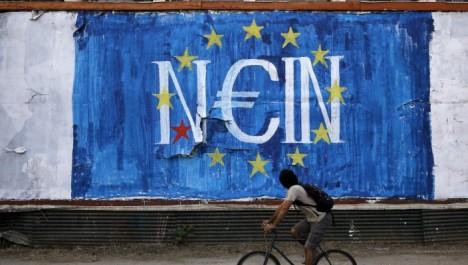 grecia-no-referendum-europa-banche-murales-graffiti