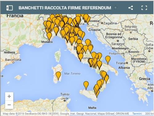 Referendum costituzione e Italicum, banchetti in tutta Italia per raccolta firme