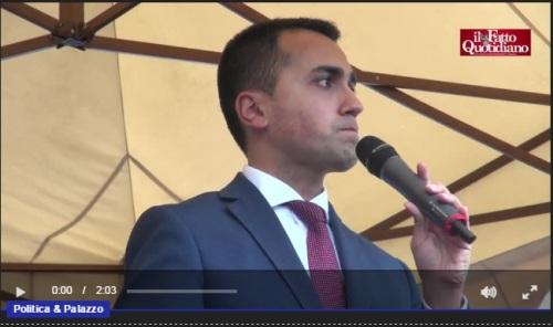 """Torino, Di Maio: """"Riforme? Dimissioni Renzi per il disastro occupazionale del Jobs act"""""""