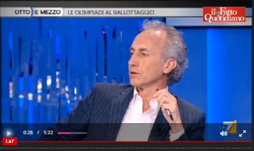 """Olimpiadi, Malagò vs Travaglio: """"70% opere ci sono"""". """"Roma ha già un debito scandaloso, non riesce neanche a finire la Metro C"""""""