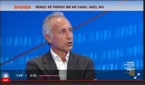 """Travaglio vs Fiano: """"Renzi non si dimette più? Si può votare No senza remore"""". """"Bla-bla retroscenista"""""""