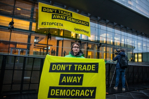 Greenpeace Calls on Ministers to Reject CETA and put People and Planet first